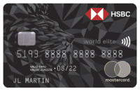 Carte Mastercardᴹᴰ HSBC World Eliteᴹᴰ